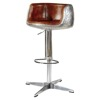 2017 Vintage Adjustable Swivel Bar Stool with Cross Base