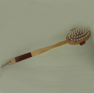 Wooden brush tampico bristle vegan exfoliating body brush