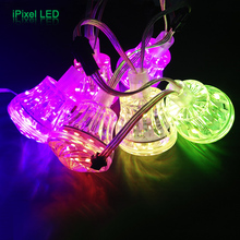 Ferris Wheel 60mm 18leds Rgb Pixel Cap Led Amusement Cabochon