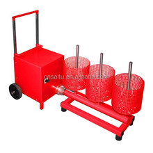 Rotary automatic Dry Chemical Fire Extinguisher Powder Handling System Designed for in shop or mobile truck use