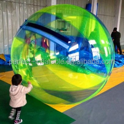 Beautiful Colourful Rainbow Inflatable water ball walking on the water for sale