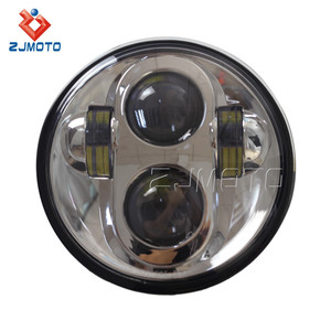"5.75"" LED Motorcycle Headlight Daymaker Projector DRL For Harley Yamaha Honda Models"