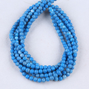 Polished Round 8mm Dyed White Howlite Gemstone Beads