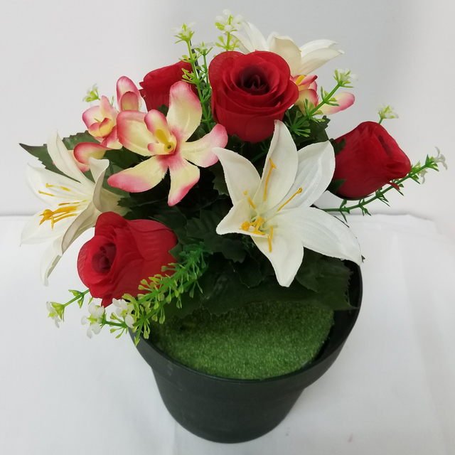 Silk flowers in uk source quality silk flowers in uk from global wholesale red cream 10 heads real touch silk artificial flower heads uk mightylinksfo