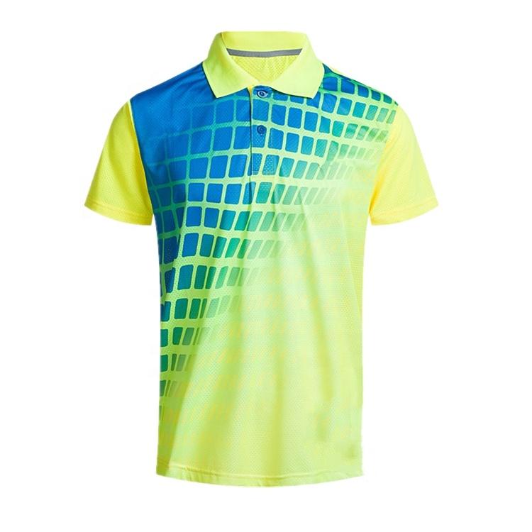 Wholesale Customizable Sublimation Polyester Spandex Latest Design Plain Golf Polo Shirt For Men, Customized color