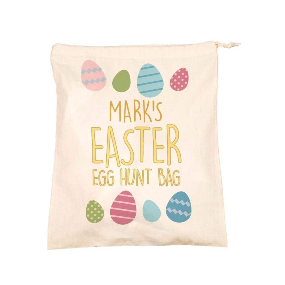346cfc20f9 Get Quotations · Unique Personalised Easter Hunt Treats Drawstring Bag  Alternative Girl Boy Easter Bunny Gift Ideas
