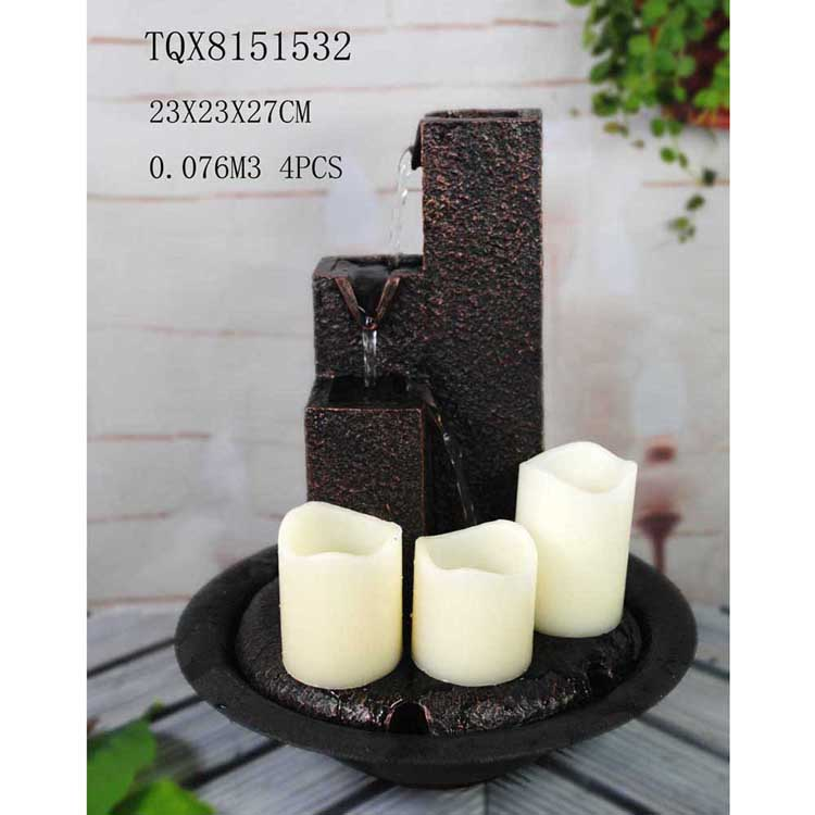 New design water fountain tabletop fountain with candle