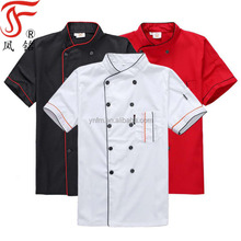 Korting Sales Hoge Kwaliteit <span class=keywords><strong>Chef</strong></span> Uniform Unisex Korte Mouwen <span class=keywords><strong>Chef</strong></span> Jas Restaurant Koken <span class=keywords><strong>Chef</strong></span> Uniform