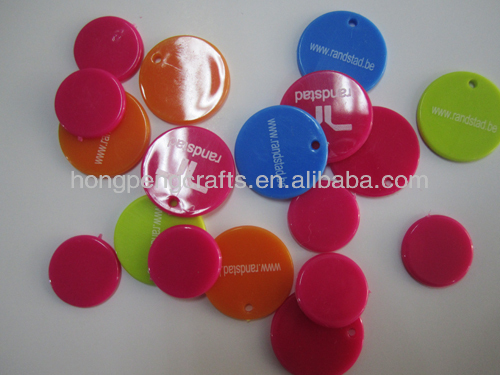23mm colored custom logo plastic token