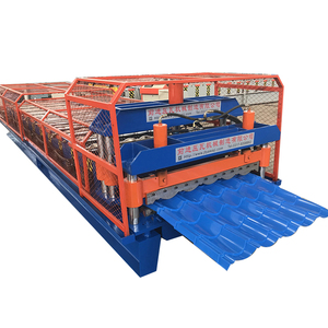 colored steel step roofing tile roll forming machinery