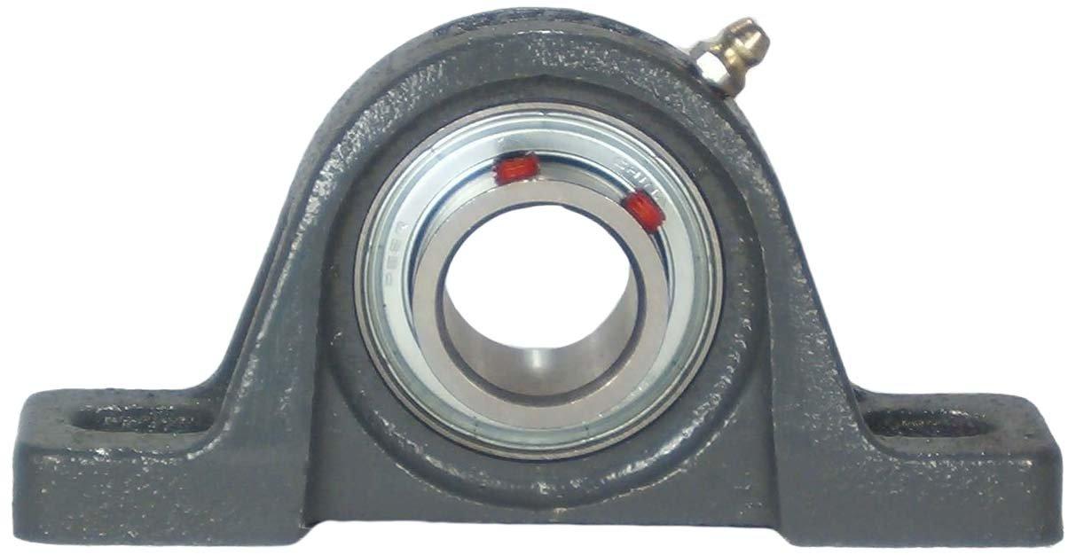 Single Lip Seal 1-1//8 Bore Peer Bearing UCP206-18 Pillow Block 1-11//16 Shaft Height Cast Iron Housing Standard Shaft Height Relubricable Anti-Rotation Pin Wide Inner Ring 4-3//4 Bolt Center Set Screw Locking Collar