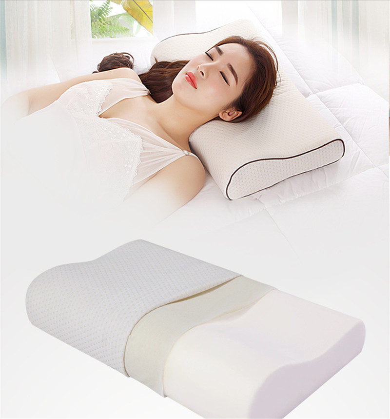 Orthopedic Neck Fatigue Relief Contour Breathable Bamboo Memory Foam Pillow for Healthy Sleeping