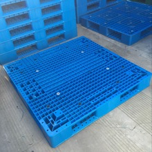 Double faced reversible perforated deck plastic pallet
