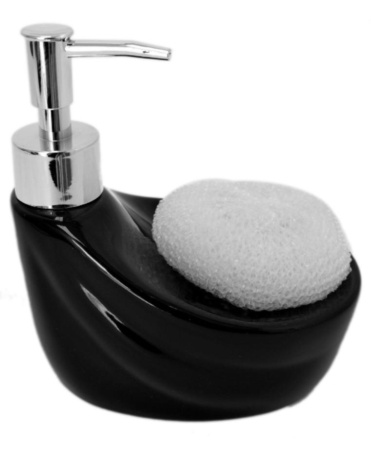 Black Ceramic Kitchen Soap Pump Lotion Dispenser Sink Sponge Scrubby Holder  - Buy Ceramic Kitchen Soap Pump Lotion Dispenser Sink Sponge Scrubby ...