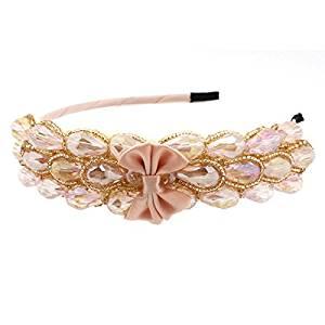Smile Elegant Sharp Bowknot Women Girl Crystal Rhinestone Headband Hair Wear Hair Band PL89