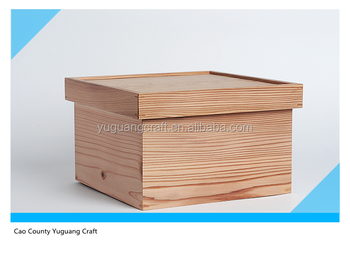 Modern Unfinished Simple Cedar Indoor Wood Storage Box