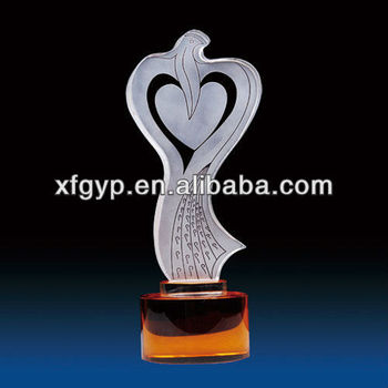 peace dove, exquisite award crystal trophy cup