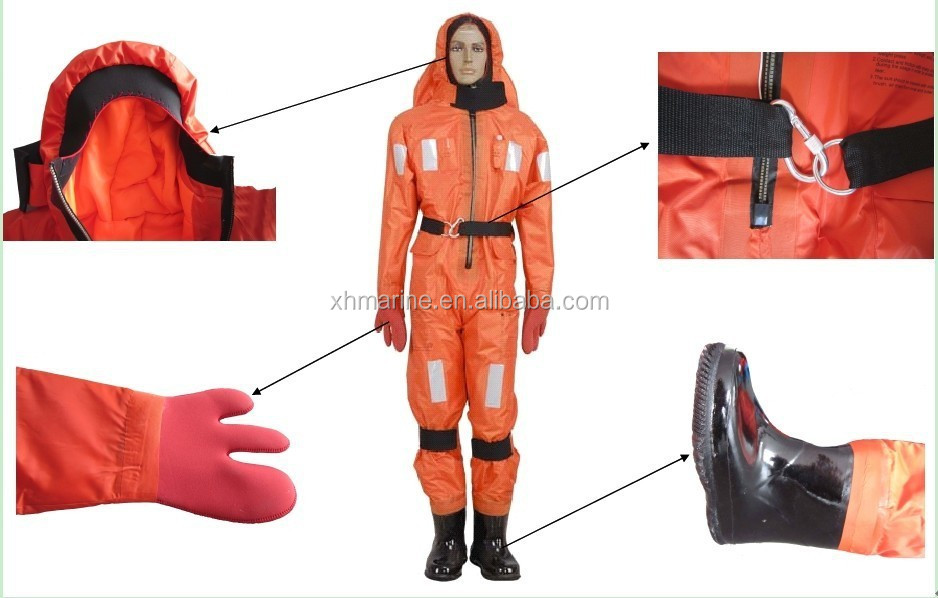 marine life saving thermal protective immersion clothe equipment