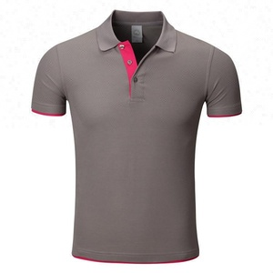 Different color collar polo shirt sewing machine