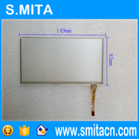 6.2'' inch touch screen panel 149mm*83mm LXH-TPM147 transparent glass screen panel Good quality and high sensitivity