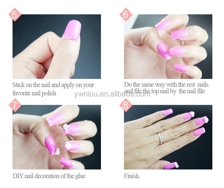 500pcs White Duck Flare Nail Tips