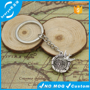 new fashion men 30mm keychain DIY metal holder chain vintage swallow nest 25*22*6mm antique silver pendant