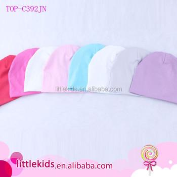 0d17c40b7a2a Unisex Newborn Baby Boy Girl Knit To Cotton Beanie Blank Soft Bath ...