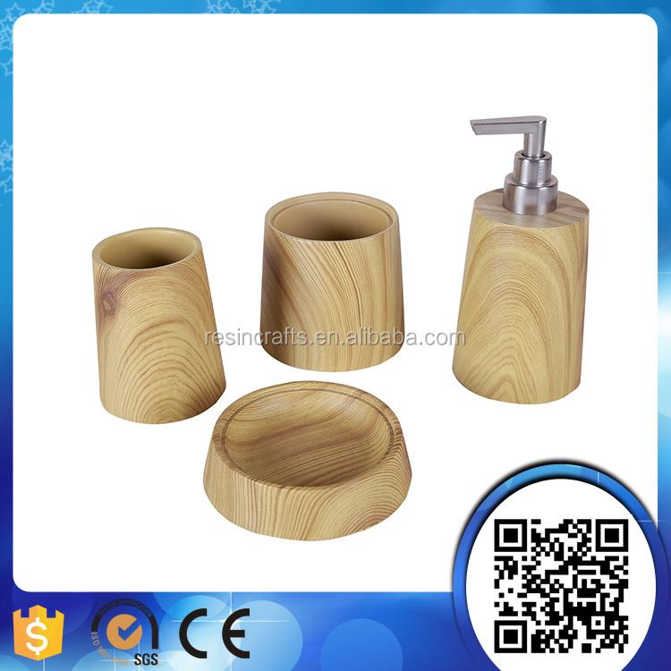 20170311&110601_Badkamer Accessoires Set ~ Hotel hars bad set houten badkamer accessoires set hout badkamer set