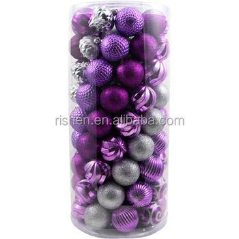 Factory Sale Potpourri Decorative Balls Purple Xmas Baubles Buy Best Purple Decorative Balls