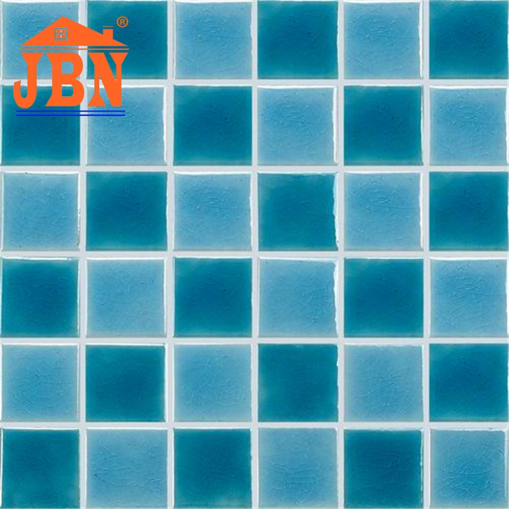 300x300 porcelain glazed crack crystal galzed blue and green swimming pool porcelain mosaic tile