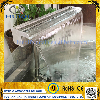 Artificial Dancing Water Feature Simple Colorful Waterfall Fountain Nozzle For Swimming Pool