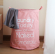 QJMAX High Quality Candy-Colored Portable Net Laundry Basket