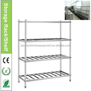 Restaurant Kitchen Stainless Steel Shelves/Pantry Racks