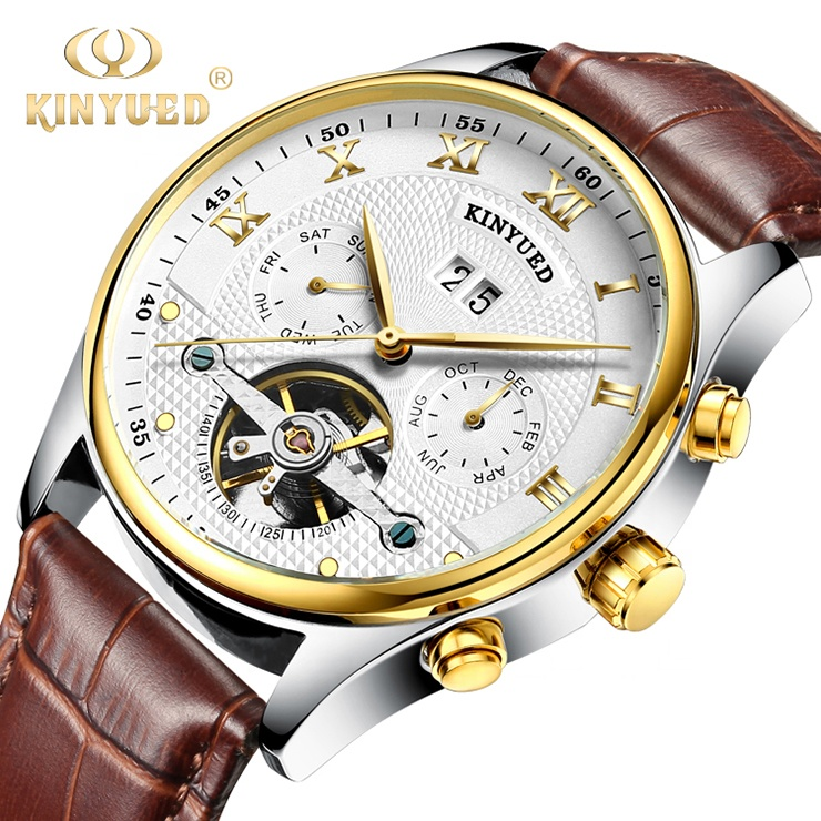 Alibaba.com / KINYUED Cheap High Quality Strap Genuine Leather Watches  Brand Automatic Mechanical