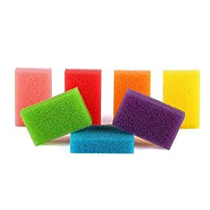 Kitchen Cleaning Sponges , Hmlai@ iLH Multi-Purpose Light 【Pack of 7】 Colorful Cleaning Sponges Scrubbers Pack Plates,Suit To Cups, Glassware, Baking Tins