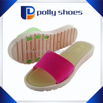 e059785f5 ladies women PVC jelly swimming pool slider mules summer sandals flip flops  shoes size