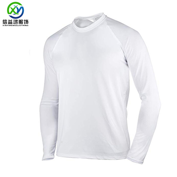 Mesh Fabric Men's UV Protection  Fishing T Shirt SPF Solid Long Sleeve T Shirt  UPF 50+ Outdoor Wear