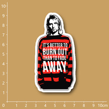 Nirvana Kurt Cobain Notebook refrigerator skateboard trolley case backpack Tables book PVC sticker