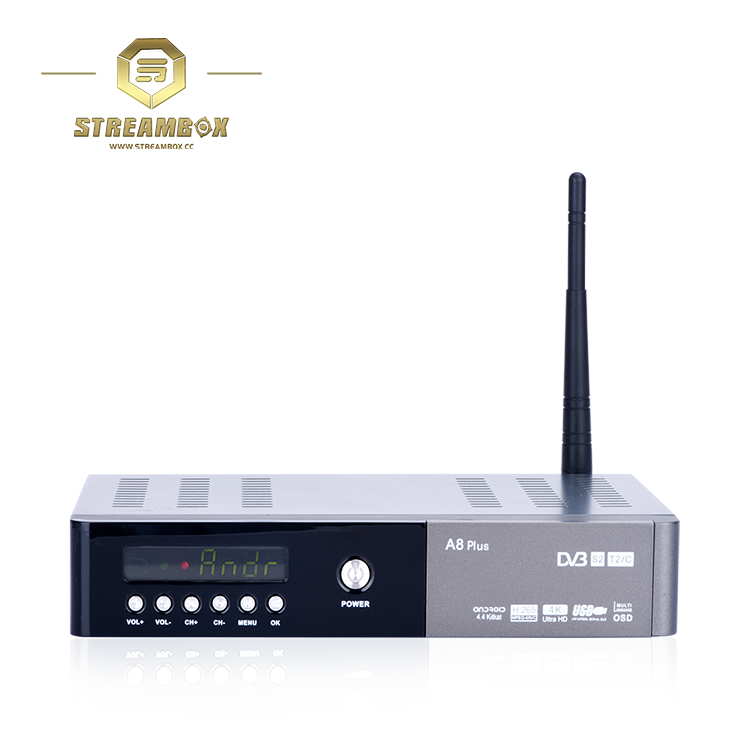 A8Plus 4k H.265 dvb t2/s2/c hd usb digital combo connector with biss and cccam usb 3.0 android smart <strong>tv</strong> receiver <strong>set</strong> <strong>top</strong> <strong>box</strong>