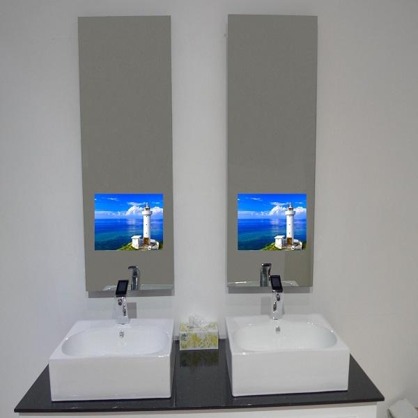 Ultra Hd Waterproof Electric Mirror Bathroom Tv Lcd Magic Bath Tvkiosk