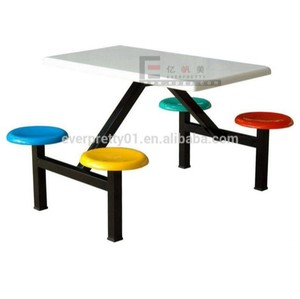 Metal Cafeteria Table Seat Canteen Furniture