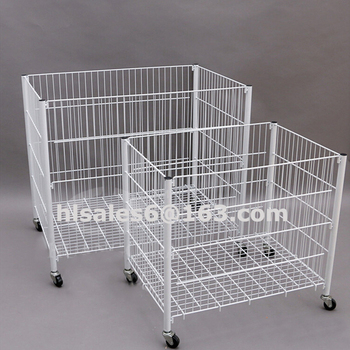 Adjust folding metal store clothing rack display