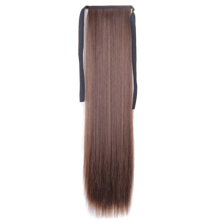 Cheap Price Honey Blonde Color 100g Fashion Synthetic Fiber Ponytail Hairpieces for Women