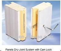pu sandwich panels storage/refrigeration room cam lock