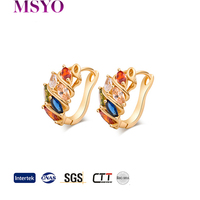 crystal avenue wholesale jewelry gold plated earring
