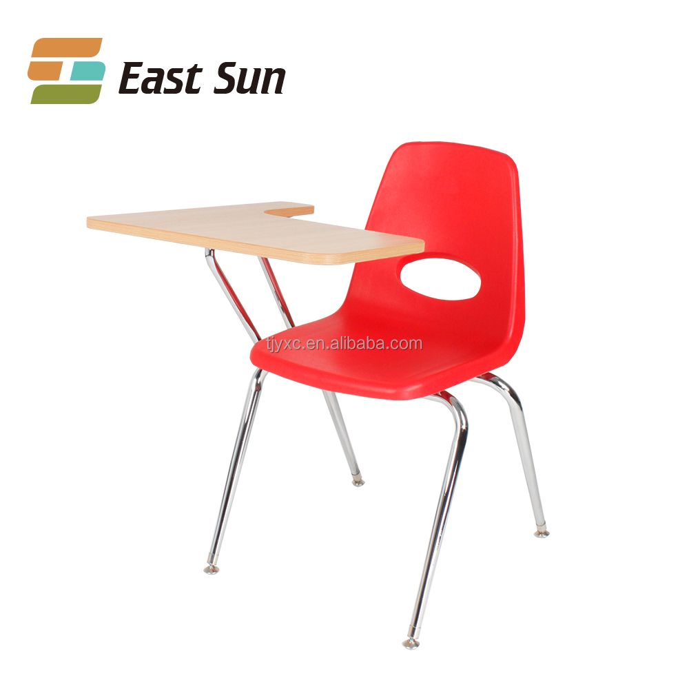 2017 new style product combined school desk and chair