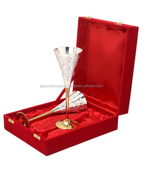 indian festival gifts silver plated wine glass special christmas gift