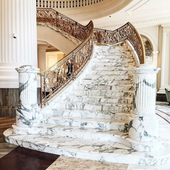 Solid Granite Marble Staircase Cost Matble Tread Stairs