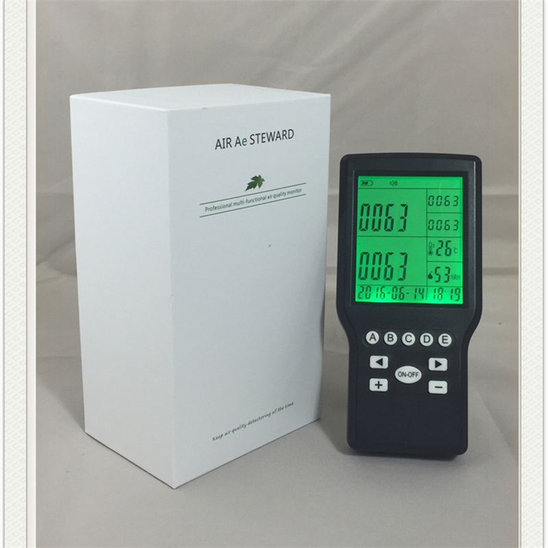 CO,NO,NO2,O3,Co2,PM2.5,VOC Gas Detector Outdoor Remote Air Quality Monitor VOC HCHO TVOC formaldehyde particle count gas detect