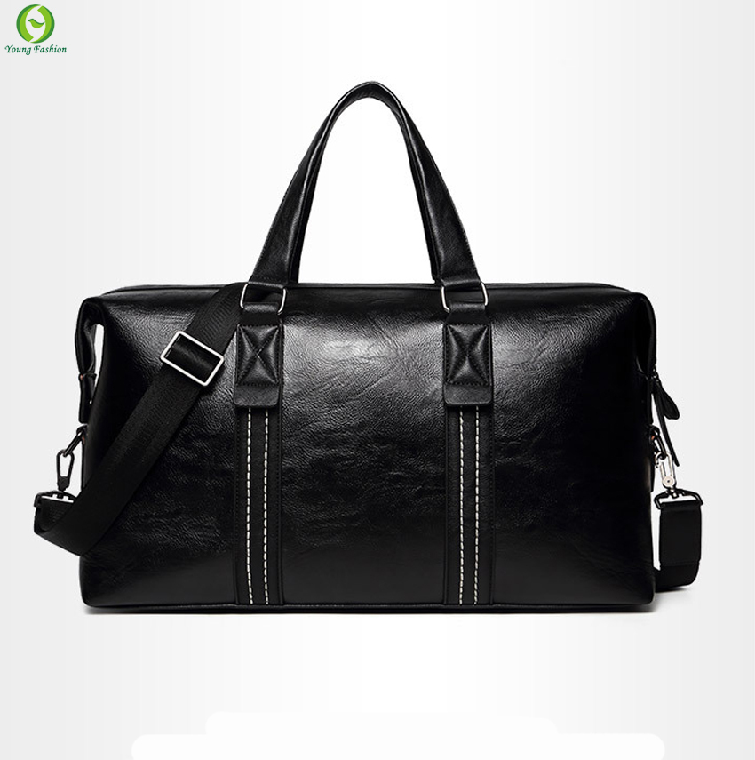 3d44fa2b7ccc Get Quotations · new men travel bag leather casual men handbag outdoor  vintage men shoulder bag Preppy Style men